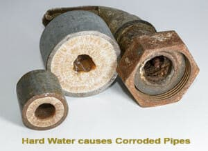 Hard Water causes corroded pipes