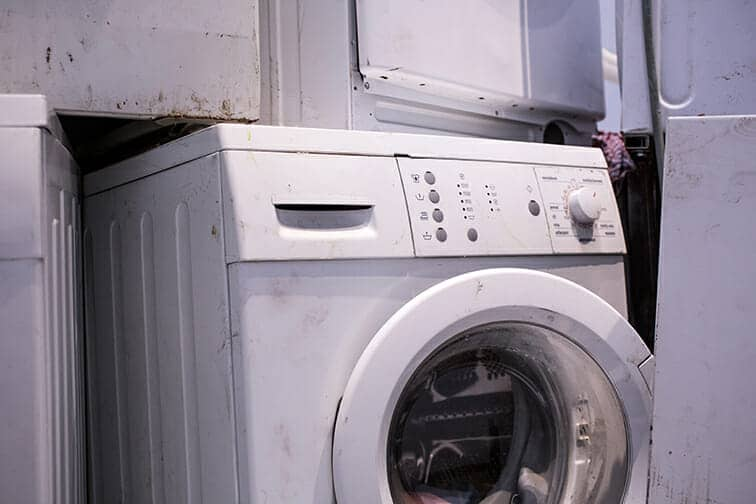 noisy washing machines, faulty main valve